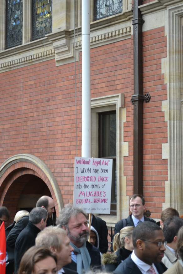 Reflecting the range of speakers, those marching had many differing reasons for standing up for legal aid.